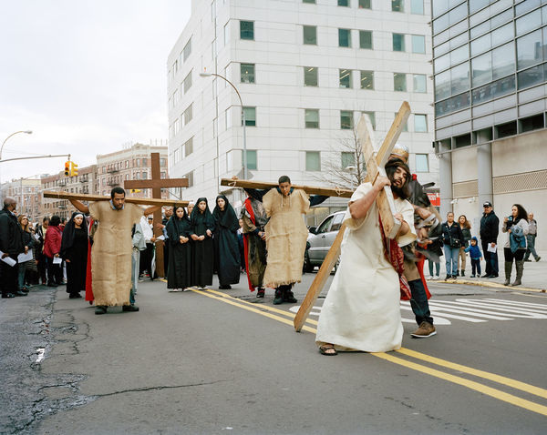 The community of Washington Heights gather every year to pray and participate in the procession of Christ for Holy Week. Dominican Dominican Republic Film Photography Filmcamera Filmisnotdead Haitian Mamiya7 Mamiya7ii Mediumformat Portraits Semana Santa Still Life The Photojournalist - 20I6 EyeEm Awards Washington Heights