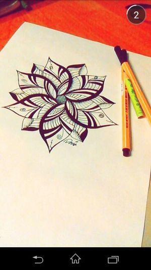 Hi! Moje Snapchat Screenshot Zentangle Kwiat 🌸 Relaxing Rysunek