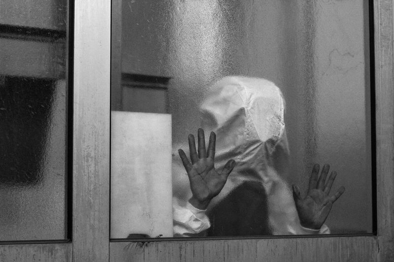 Creepy Hands Suit Blackandwhite Bw Window People Reaching Out Light And Shadow OpenEdit