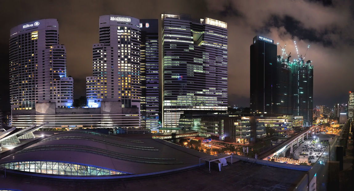 Architecture Building Exterior Burstmode City City City At Night City From Above City View  Cityscape Cityscape Cityscapes Composite Image Development Handheld Exposure Last Night Modern Night Photography Night View Nightphotography Nusentral Office Building Skyscraper Tall - High Top Perspective View From The Top