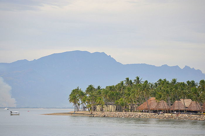 Beauty In Nature Fiji Mountain Scenics Tranquil Scene Tranquility Village Water Waterfront