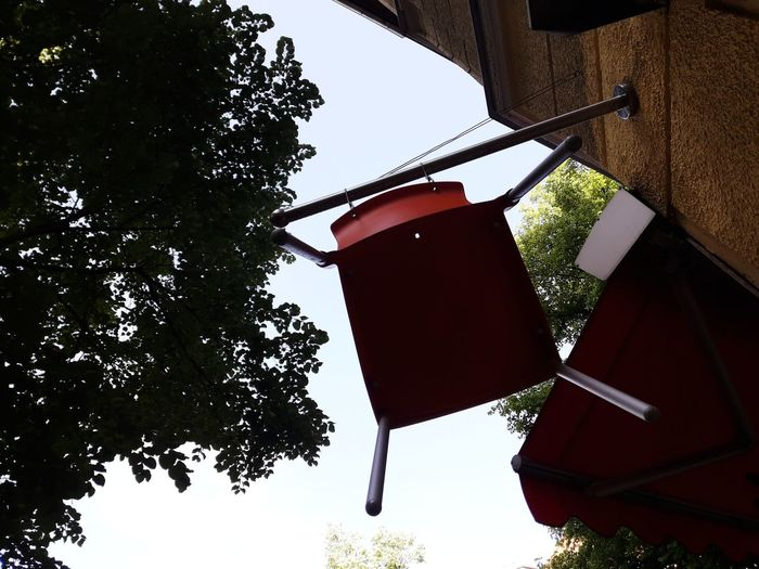 Flying Chair Seats Tree City Hanging Tradition Sky Building Exterior
