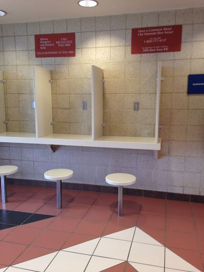 No Phones Text Indoors  Tiled Floor Communication No People Bathroom Tile Day Pay Phone