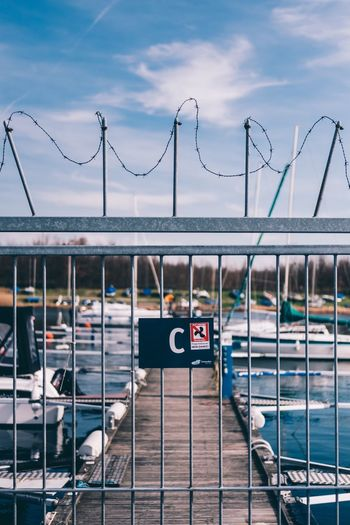 Pier Water Architecture No People Outdoors Pier Boat Boats And Water Sky Day Lake Fance EyeEm Best Shots EyeEmNewHere EyeEm Best Shots - Architecture Urban Waterfront