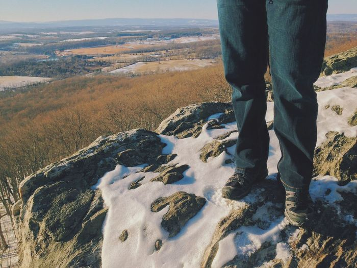 High tops • Finding one's feet, and one's place in the world • The Human Condition Feet Shoes Snow Mountains Rock Hiking Hikingadventures The Traveler - 2015 EyeEm Awards Escaping