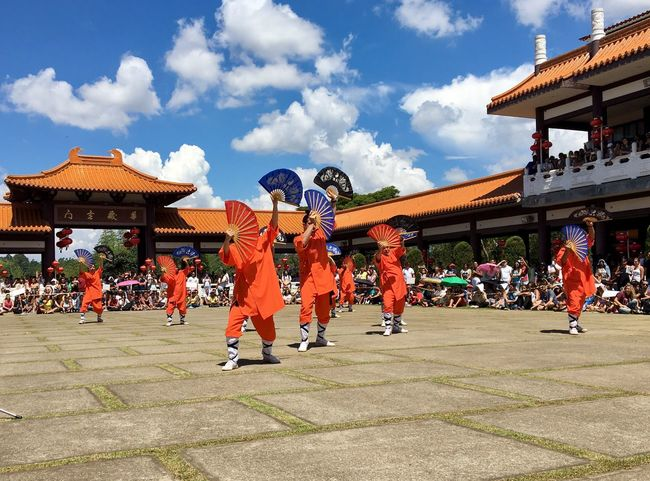 Architecture Building Exterior Large Group Of People Built Structure Sky Ceremony Day Uniform Cloud - Sky Real People Competition Outdoors People Adult Kung Fu Tai Chi Tai Chi Chuan