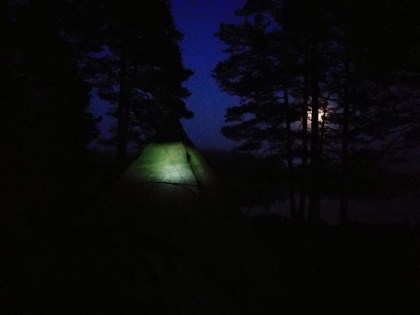 Night Tree Shadow No People Nature Outdoors Sky Tent Camping Moon Norway🇳🇴 Travel Destinations