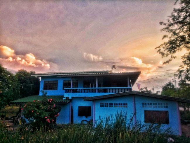 บ้านฉันเอง My Home Home Edit Architecture Built Structure Building Exterior House Sunset No People Tree
