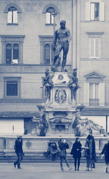 Neptune Nettuno Bologna Italy Italia Being A Typical Tourist