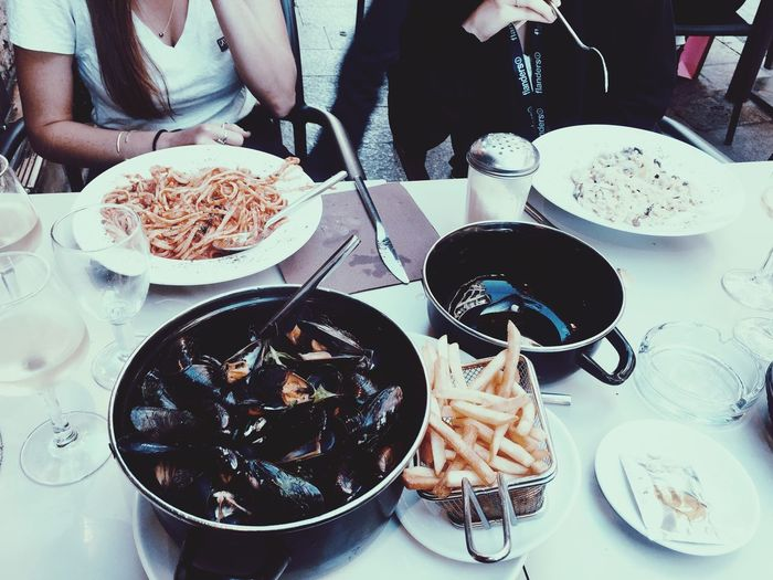 In Cannes eating Seafood Food
