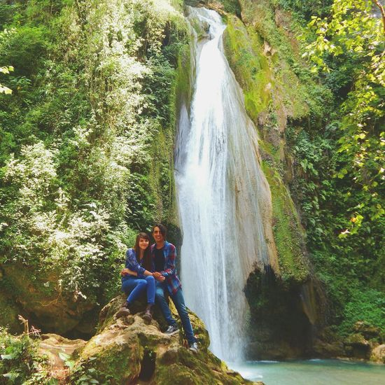 Enjoying Life Just You And Me ♡♡ Waterfall I Miss You Hanging Out Lovers My Love❤