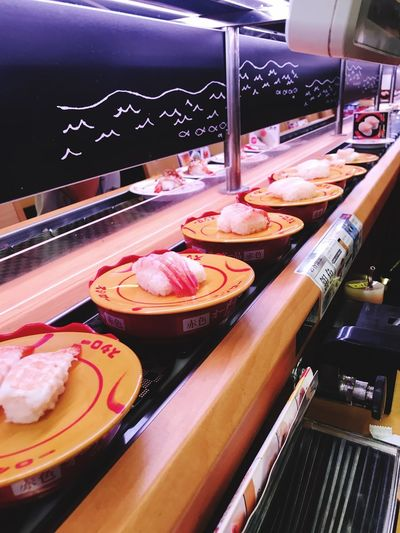 Sushi Sushi Food And Drink Food Indoors  Freshness No People Close-up Still Life Meat Table Restaurant