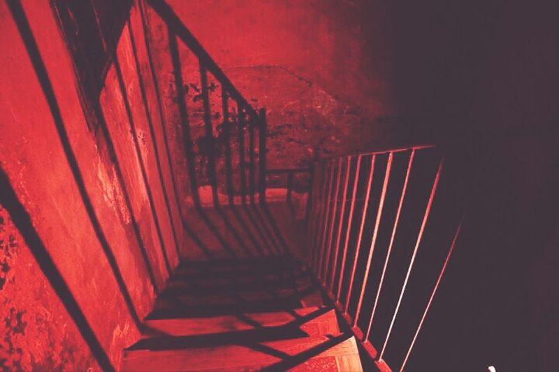Barcelona Staircase Flashpainting Shadows
