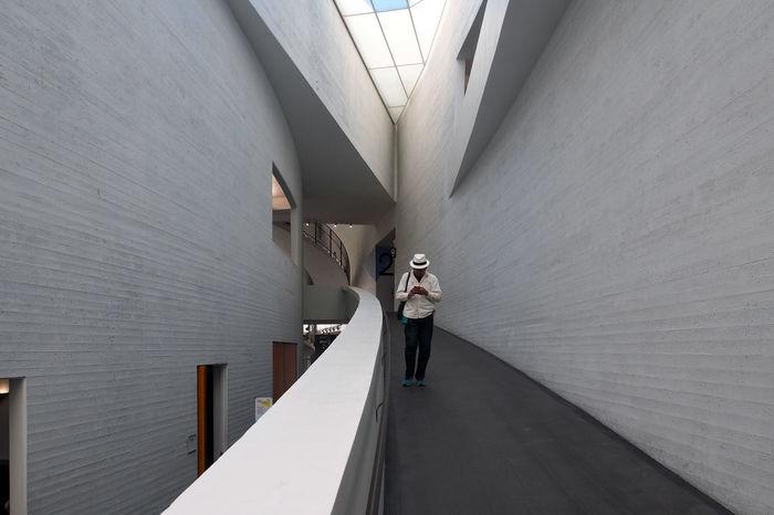 Helsinki Architecture Built Structure Full Length Indoors  Kiasma One Person