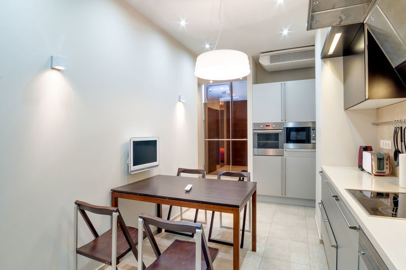 Indoors  Seat Illuminated Modern Lighting Equipment No People Table Architecture Ceiling Absence Home Interior Domestic Room Home Furniture Chair Technology Empty Kitchen Building Home Showcase Interior Luxury Light Electric Lamp Clean