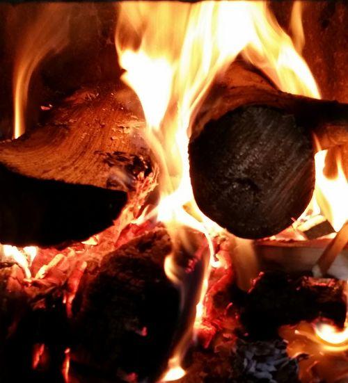 Heat Fire Warmth Cozy Winter Cozy Fireplace Mesmerizing Orange Yellow Flames