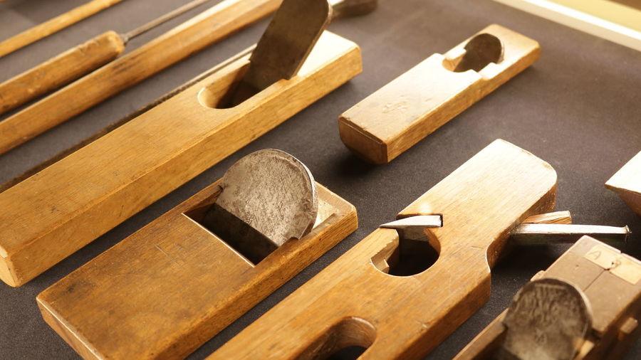 カンナ Musical Instrument Wood - Material Alphabet Work Tool Close-up