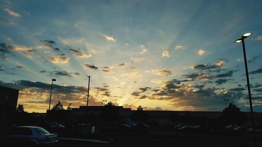 Home Depot Sunset Tree Silhouette Sport Car Dramatic Sky Sky Cloud - Sky Parking Lot Romantic Sky Atmospheric Mood