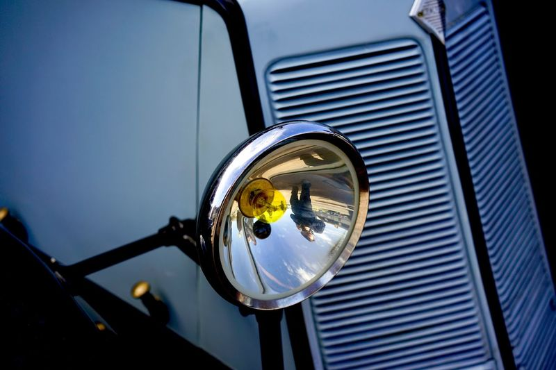 No People Metal Low Angle View Close-up Land Vehicle Car Mode Of Transportation Headlight Vintage Car Chrome Retro Styled