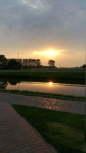 Sunrise River North Sea Carolinensiel Harle Germany