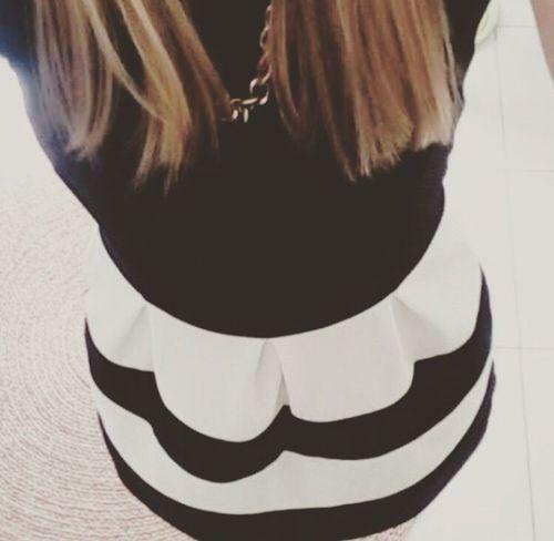 Dress Girly Blackandwhite