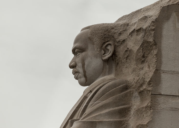 Tear of a Dream. It's as if Martin Luther King, Jr. is shedding a tear. Close-up DC Emotion Feeling First Eyeem Photo Human Face Martin Luther King Martin Luther King Memorial  Memorial MLK Statue
