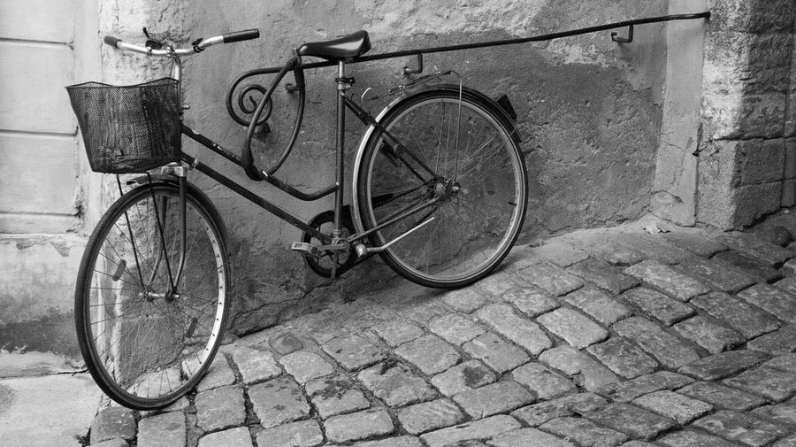 Waiting for the rider Bicycle Cobblestone Day Land Vehicle No People Outdoors Stationary Tranquility