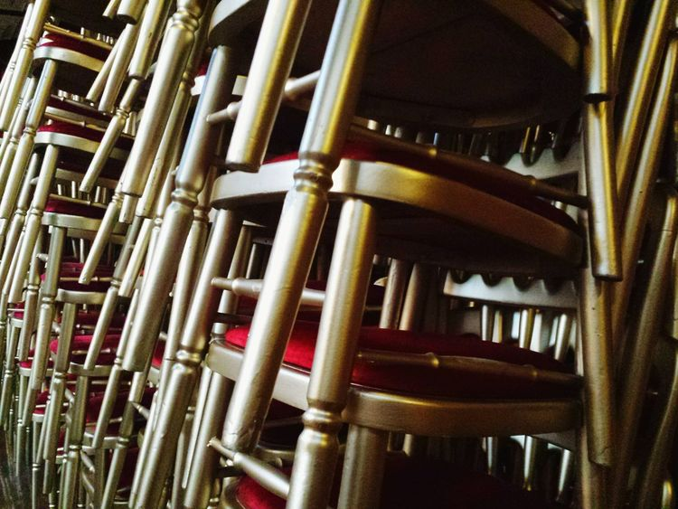 'Stack 1' Chairs Stacked Chairs Theatre Empty Chairs Red And Gold -- B