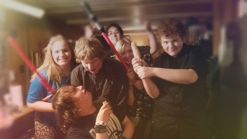 Dorks Group Photo Taking Photos Friends ❤ Freaks ^_* Fliters Great Night Lightsaber Great Day!