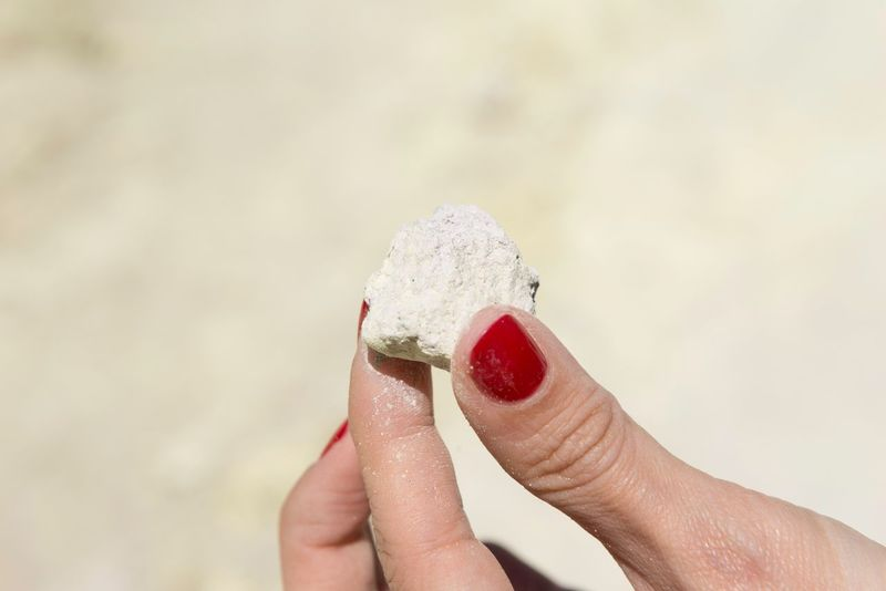 White crater rock Red Nail Polish White Stone Keep A Stone Hands Of Woman White Lake White Crater White Rock White Rock Lake Red Finger Nails Woman Hand Sunny Day Sunny Beach White Beach Red Fingernails EyeEm Selects Human Hand Human Body Part Nail Polish Close-up