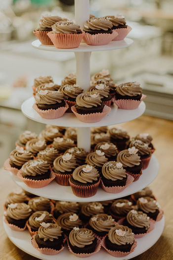 Chocolate muffins Chocolate Dessert Wedding Baked Buffet Cake Cakestand Candy Cupcake Dessert Food Food And Drink Muffins Restaurant Still Life Sweet Sweet Food Unhealthy Eating