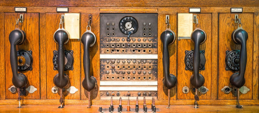 Antique Office Cable Call Communication Contact Historical Network No People Nobody Phone Phoning Technology Telecommunication Telecommunications Telecommunications Equipment Telephone Telephone Line Vintage