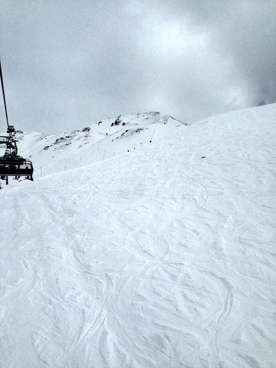 Alps Austria Beauty In Nature Cold Temperature Day Landscape Nature No People Outdoors Ski Lift Sky Snow Winter
