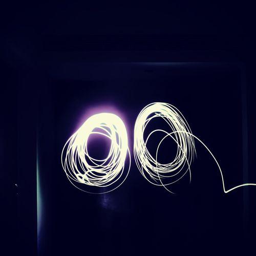 Spiral Light Trail Night Lights Trailshots Indoors
