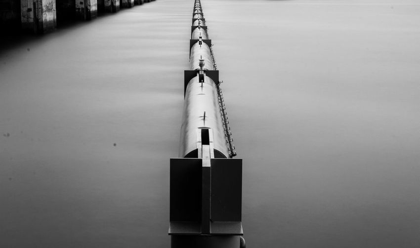 Architecture Blackandwhite Blurred Motion Bnw Building Exterior Built Structure Day Long Exposure Nature No People Outdoors Pipe Sea Sky Water