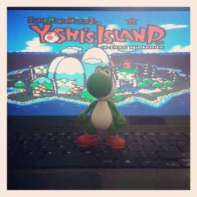 Olha quem saiu do jogo e apareceu aqui?? HAUAHAUAHAUHA presente de aniversário ~adiantado~ HEUEHEUEUEUEH obrigado!! Gift Birthday Yoshi Mario happy
