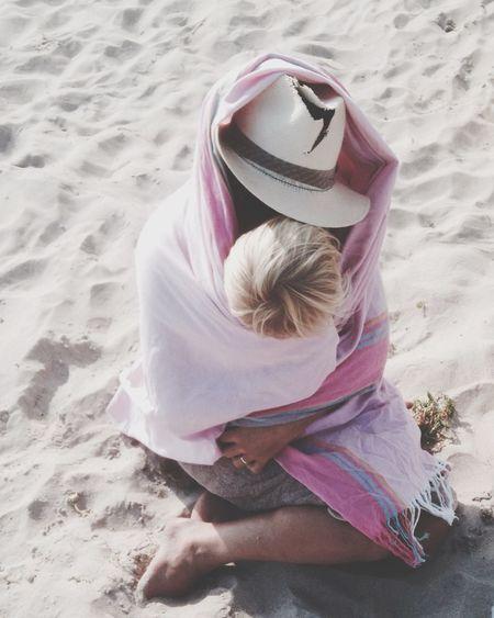 Man Hat Boy Beach