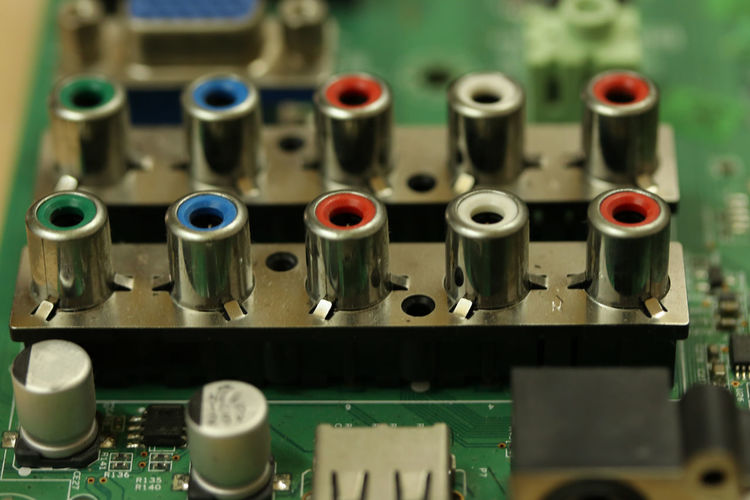 Audio Audio Equipment Electronic Mother Board Motherboard. Motherboards Audio Electronics Circuit Board Circuit Boards Close-up Complexity Computer Chip Computer Equipment Computer Part Connection Control Panel Electronic Equipment Electronics Industry Factory Industry Motherboard Motherboard Technology Video