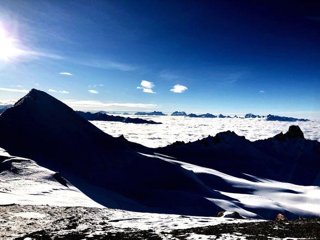 Swiss Alps Valais Valdanniviers Grimentz Zinal Sunlight Nature Beauty In Nature Sea Outdoors No People Go Higher The Great Outdoors - 2018 EyeEm Awards