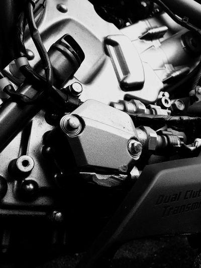 My Honda Motorcycle Engine after small crash 🙂 Smile Technology No People HondaLove HondaNC700x