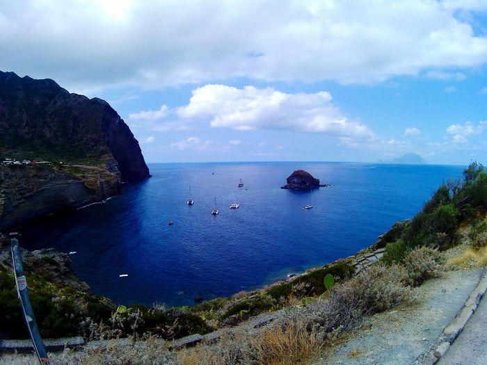 Beautiful Isola Isola Relax Natura Blue Coolpics Boat Sky Isoleeolie Island Salina Paradise Beach Water Cielomania Cielo Clouds Mediterranean  Spiaggia First Eyeem Photo Sicily Sun Holiday Rocce