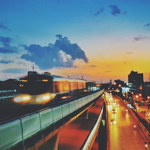 Alone Sunset Thailand Sky