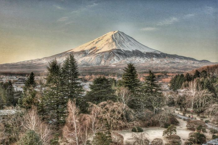 mountain Snow Mountain Volcano Scenics No People Landscape Tree