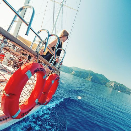 Traveling Home For The Holidays 5 hours on the ferry to the airport? Not bad Sea Vacations Mid Adult Travel Nautical Vessel Transportation Horizon Over Water Clear Sky Outdoors Water Sailing Adults Only Sky One Person Adult Adventure Boat Deck Sailing Ship Sailboat People