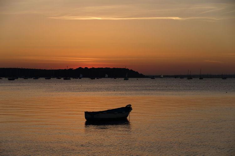 Poole Poole, Dorset Poole Harbour Sunset Brownsea Island Brownseaisland Brownsea Boat