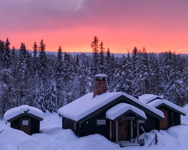 View from the office Sälen Sweden Scandinavia EyeEm Selects Snow Winter Cold Temperature Tree Sky Architecture Sunset Nature Scenics - Nature Beauty In Nature Environment
