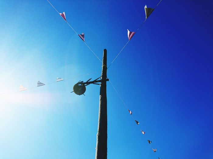 Blue Sky Clear Sky Motion Nature Flying Low Angle View Day Party Soup Preserved Village Party Flags Flags Tourism Lagares Penafiel, Porto The Week On EyeEm