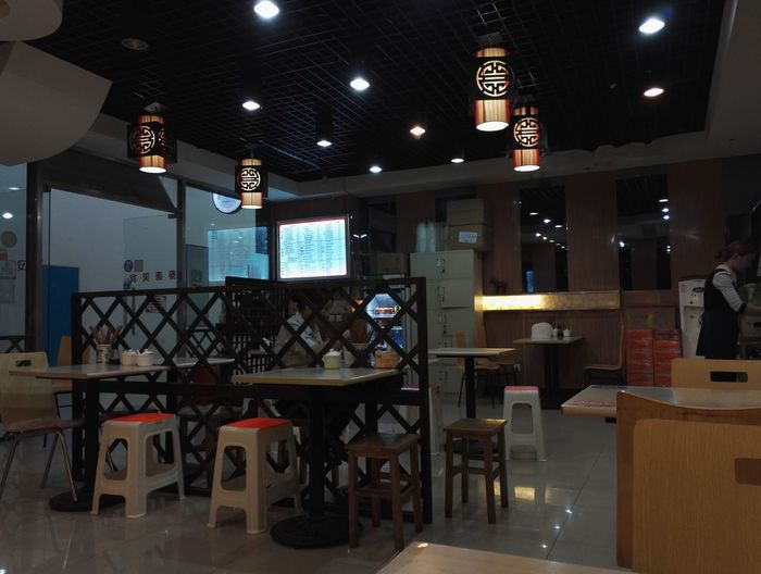 Absence Architecture Built Structure Electric Lamp Electric Light Empty Illuminated Interior Lamp Lighting Equipment Modern Night No People Restaurant