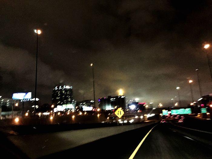 City Atlanta Foggy Building Nighlife ATL