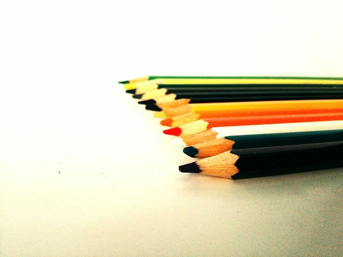 Colorful Pencils On Table